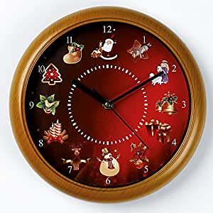 christmas musical wall clock kitchen home