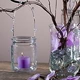 Eastland® Hanging Votive Holder Glass / Charming Metal Handle Adorned with Gems (Set of 12)