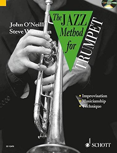 Jazz Method for Trumpet CD John O'Neill, Steve Waterman (Tutor Book & CD)