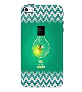 PrintDhaba Quote D-5026 Back Case Cover for APPLE IPHONE 5 (Multi-Coloured)