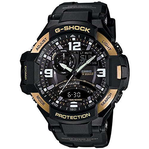 Casio GA1000-9G 51mm Resin Case Black Resin Mineral Men's Watch