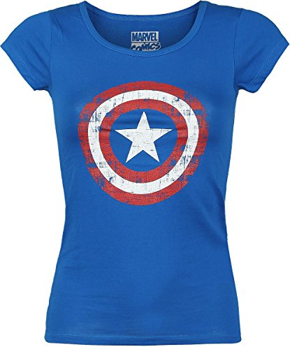 Captain America Cracked Shield Maglia donna blu S