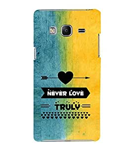 EPICCASE never love truly Mobile Back Case Cover For Samsung Tizen Z3 (Designer Case)