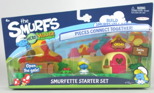 The Smurfs Micro Village Figure Starter Set - Smurfette