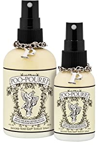 Poo-Pourri Preventive Bathroom Odor Spray 2-Piece Set, Includes 2-Ounce and 4-Ounce Bottle, Poo-Pourri Original