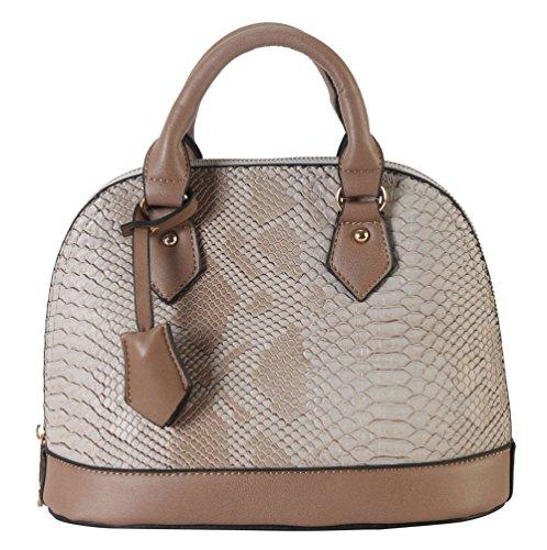rimen-co-pu-leather-solid-snakeskin-shell-shape-top-handle-tote-womens-purse-handbag-sw-3609
