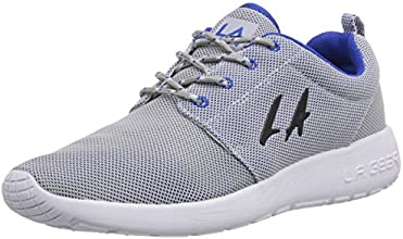 LA Gear Sunrise, Baskets mode homme - Gris (Lt Grey/Royal Blue), 41 EU