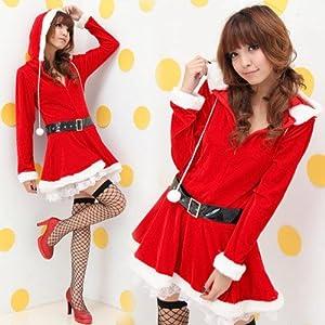 【サンタクロース】 コスプレ衣装 サンタワンピース コスチューム クリスマス サンタガール