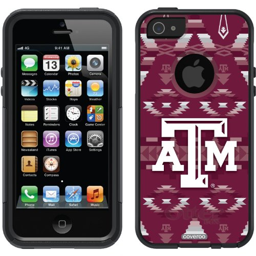 Best Price Texas A&M Tribal design on a Black OtterBox® Commuter Series® Case for iPhone 5s / 5