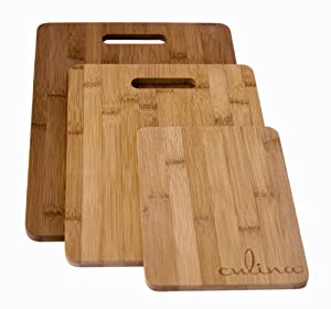 Culina Bamboo Cutting Boards - Set of 3 by Culina