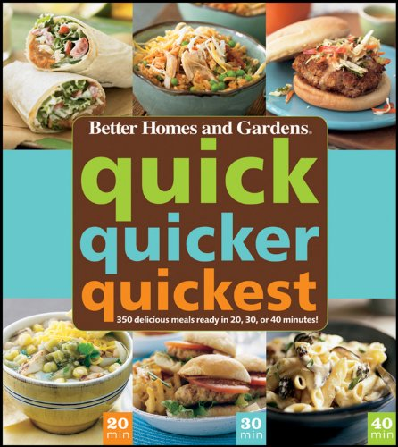Quick, Quicker, Quickest: 350 Delicious Meals Ready in 20, 30, or 40 Minutes!