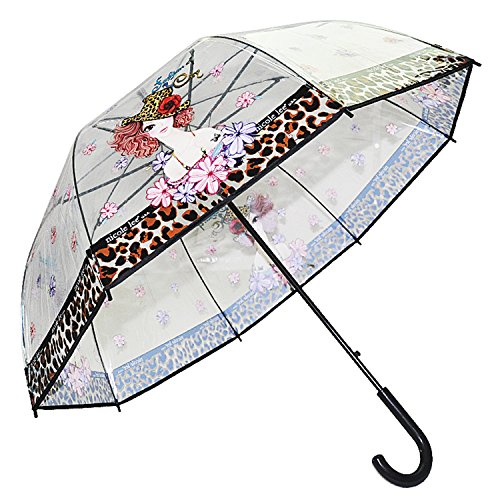 nicole-lee-sunny-print-clear-umbrella