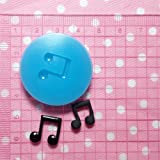 011LBP Musical Note Fondant Silicone Mold for Cake Decorating Chocolate Soap Clay Fimo Clay