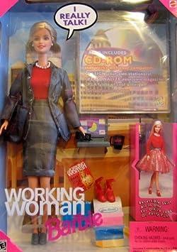 Barbie Working Woman Talking Doll w CD-ROM (1999) by Mattel (English Manual)