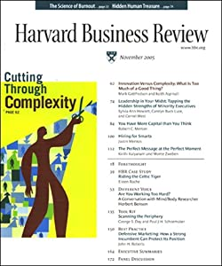 Harvard Business Review, November 2005 | []