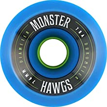 Hawgs Monster Blue Longboard Wheels - 76mm 78a Set of 4
