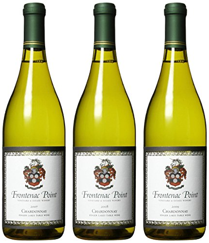 Frontenac Point Finger Lakes Chardonnay Vintage Vertical (2007, 2008, 2009) Mixed Pack, 3 X 750 Ml