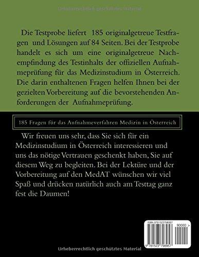 MedAT Medikus Testsimulation 1: 185 Fragen für das Aufnahmeverfahren Medizin in Österreich
