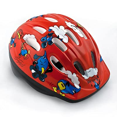 Kids Girls Children Bicycle Cycle Bike Helmet Red 52-56 cm from Relaxdays