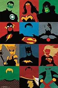 (22x34) Justice League - Minimalist Comic Television Poster