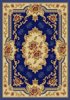 E507 Classic French Aubusson Traditiona l Medallion Dark Blue 8x10 8ft 10ft Rug Carpet Mat Actual Size 7'9
