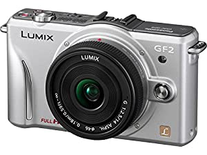 Panasonic Lumix DMC-GF2 12 MP Micro Four-Thirds Interchangeable Lens Digital Camera with 3.0-Inch Touch-Screen LCD and 14mm f/2.5 G Aspherical Lens (Silver)