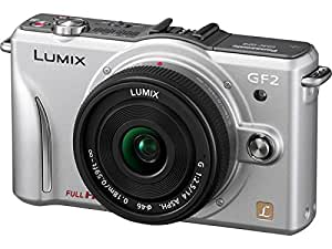 Panasonic Lumix DMC-GF2 12 MP Micro Four-Thirds Mirrorless Digital Camera with 3.0-Inch Touch-Screen LCD and 14mm f/2.5 G Aspherical Lens (Silver)