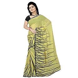 Pawan Tex saree for women's (saree71_lemon yellow)