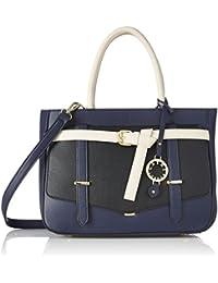 Cathy London Women's Handbag, Material- Synthetic Leather, Colour- Black/Black