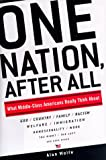 One Nation, After All: What Middle-Class Americans Really Thing About  God, Country, Family, Racism, Welfare, Immigration, Homosexuality, Work, the Right, the Left, and (0670876771) by Wolfe, Alan