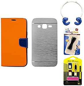 Mify Mobile Accessories Combo for Samsung Galaxy Z1, Grey & Orange