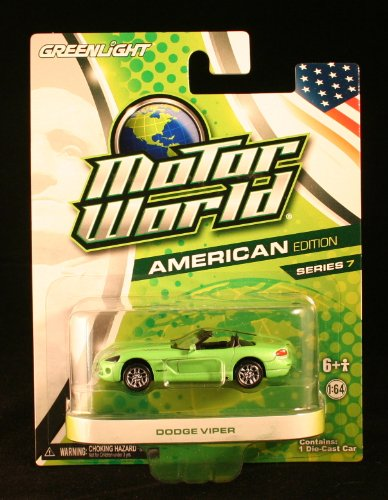 Greenlight Motor World American Edition Series 7 Dodge Viper Green - 1