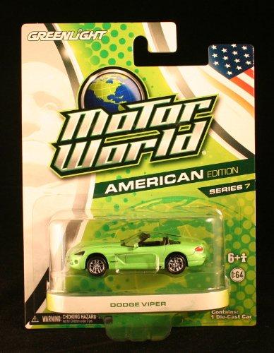 Greenlight Motor World American Edition Series 7 Dodge Viper Green - 1