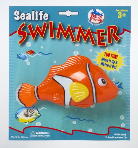 Sea Life Swimmer Wind Up Clown Fish Bath Tub Toy front-880861