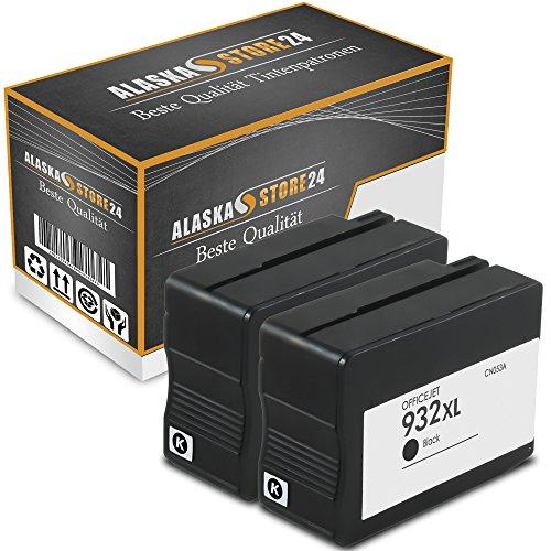 ATP 2x Kompatible Tintenpatronen Druckerpatronen Als Ersatz für Hp 932 XL (Schwarz , Black)