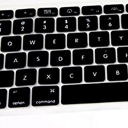Silicone Keyboard Cover for Apple MacBook Pro 13-15 inches Black