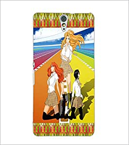 PrintDhaba Girls Gang D-2485 Back Case Cover for SONY XPERIA C5 ULTRA (Multi-Coloured)