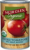 Muir Glen Organic Diced Tomatoes, No Salt, 14.5-Ounce Cans (Pack of 12)