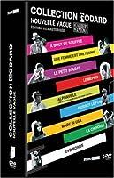 Coffret Jean--luc Godard Nouvelle vague 9 DVD: a bout de souffle - une femme est une femme - le petit soldat - le mepris - Pierrot le fou - Alphaville - Made in USA - La chinoise + 1 DVD bonus