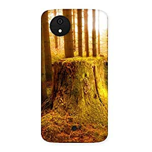 Ajay Enterprises Cut Tree Back Case Cover for Micromax Canvas A1