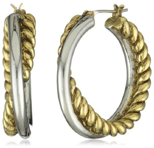 T Tahari Interlocking Hoop Earrings