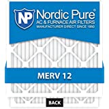 Nordic Pure 20x25x5 Honeywell Replacement AC Furnace Air Filters, MERV 12, Box of 2