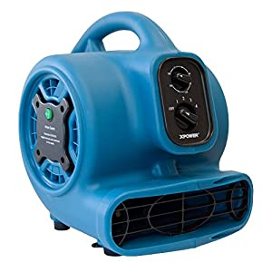 XPOWER Freshen Aire P-260NT 1/5 HP Mini Scented Air Mover Fan Dryer with Ionizer & Timer