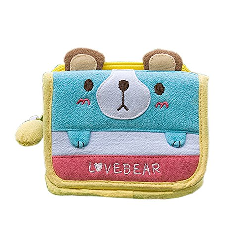 [Love Bear] Trifold Wallet Purse (4.5*3.5)