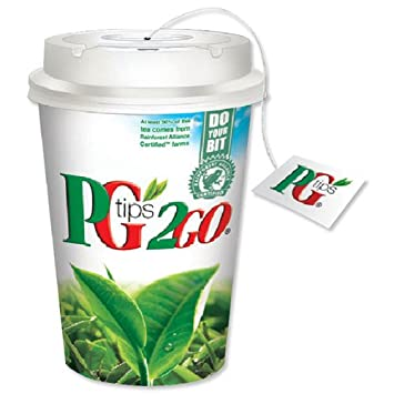 PG Tips PG2GO All In One Solution with Cups Tea Bags Lids and Sleeves Ref A06628 [Box 480]