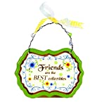 Friends Are Best Hanging Plaque