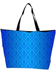 Snoogg Abstract Blue Pattern Design Designer Waterproof Bag Made Of High Strength Nylon - B01I1KLB0S