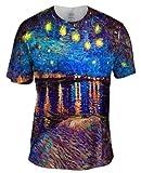 "Vincent Van Gogh - ""The Starry Night"" (1889) -Tagless- Mens Shirt-X-Large"