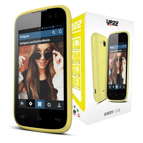 Yezz Andy 3.5E - Factory Unlocked Phone - Retail Packaging - Black/Yellow