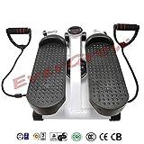 Evergrow Portable Stepper Stretchable Mini Step Machine Waist Leg Buttock Exercise Calories Burning Monitor Display---Black